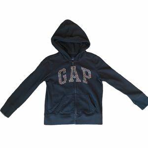 Gap kids black logo hoodie size small 6/7